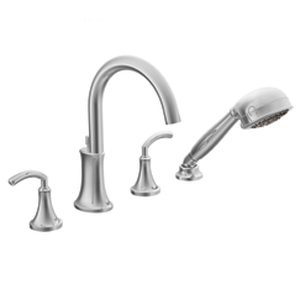Moen TS964 Icon Two-Handle High Arc Roman Tub Faucet Trim with Handshower Chrome