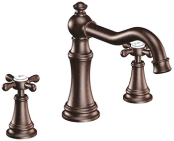 Moen TS22101ORB Weymouth Two Handle High Arc Roman Tub Faucet Trim Oil Rubbed Bronze