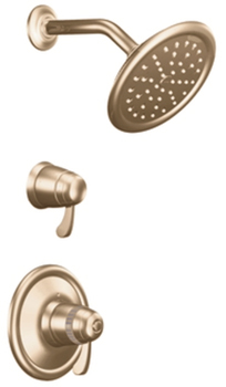 Moen ts3400az exacttemp single handle volume control - Moen antique bronze bathroom faucets ...