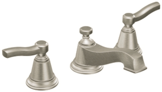 Moen TS6205BN Rothbury Two Handle Widespread Lavatory Faucet Brushed Nickel