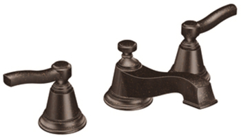 Moen TS6205ORB Rothbury Two Handle Widespread Lavatory Faucet Oil Rubbed Bronze