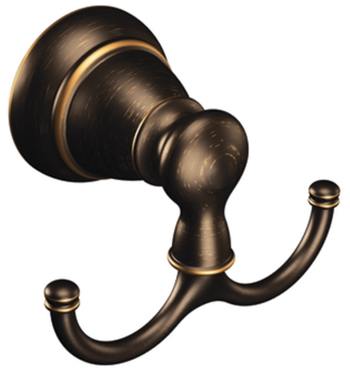 Moen Y2603BRB Creative Specialties Banbury Double Robe Hook - Mediterranean Bronze