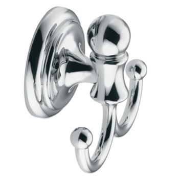 Moen Y4403CH Traditional Double Robe Hook Chrome