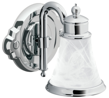Moen YB9861CH Waterhill 1 Light Bathroom Fixture - Chrome