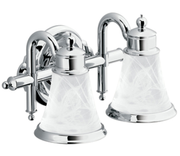 Moen YB9862CH Waterhill 2 Light Bathroom Fixture - Chrome