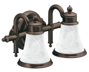 Moen YB9862ORB Waterhill 2 Light Bathroom Fixture - Oil Rubbed Bronze