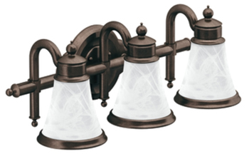 Light Fixtures Bathroom on Moen Yb9863orb Waterhill 3 Light Bathroom Fixture   Oil Rubbed Bronze