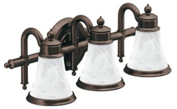 Moen Yb9863orb Waterhill 3 Light Bathroom Fixture Oil Rubbed Bronze