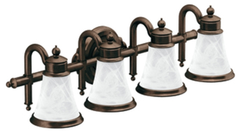 Moen YB9864ORB Waterhill 4 Light Bathroom Fixture - Oil Rubbed Bronze