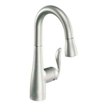 Moen 5995CSL Arbor Single-Handle High Arc Pulldown Bar Faucet - Classic Stainless