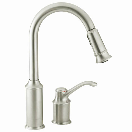 Moen 7590csl Aberdeen Single Handle Pullout Kitchen Faucet Clic Stainless