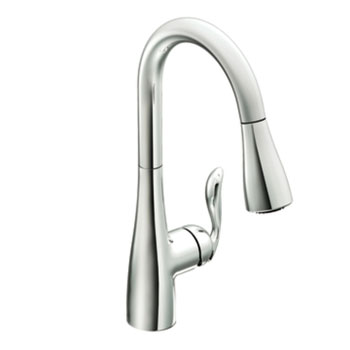Moen 7594C Arbor Single-Handle High Arc Pulldown Kitchen Faucet - Chrome