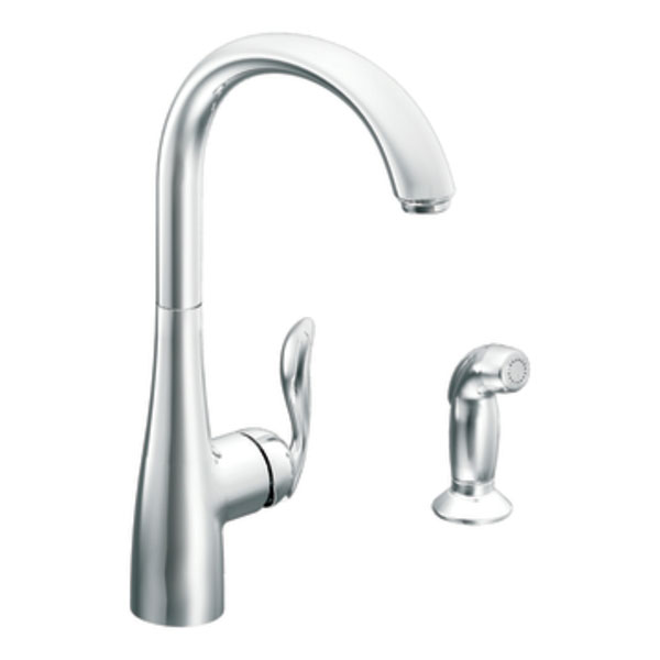 Moen 7790 Arbor Single-Handle High Arc Kitchen Faucet With Side Spray - Chrome