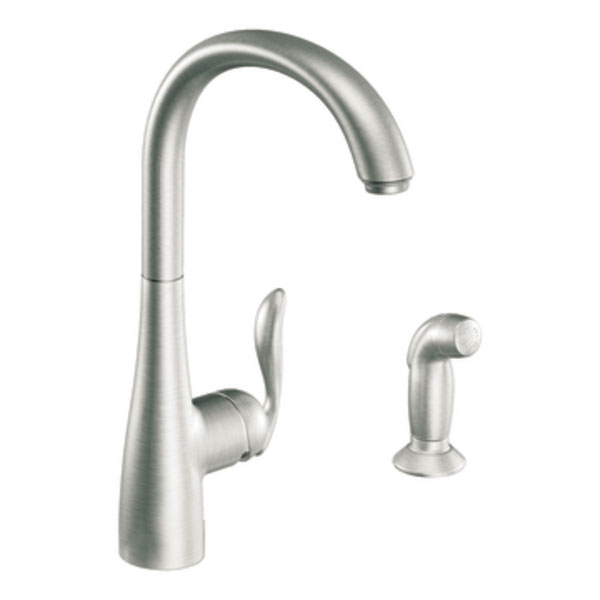 Moen 7790CSL Arbor Single-Handle High Arc Kitchen Faucet With Side Spray - Classic Stainless