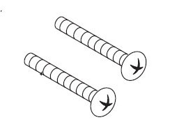 Moen 99498 Escutcheon Screws (2) - Polished Brass