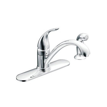 Moen CA87480 Torrance Single Handle Low Arc Kitchen Faucet - Chrome