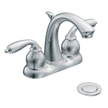Moen CA84292 Bayhill Two-Handle Lavatory Centerset Faucet - Chrome