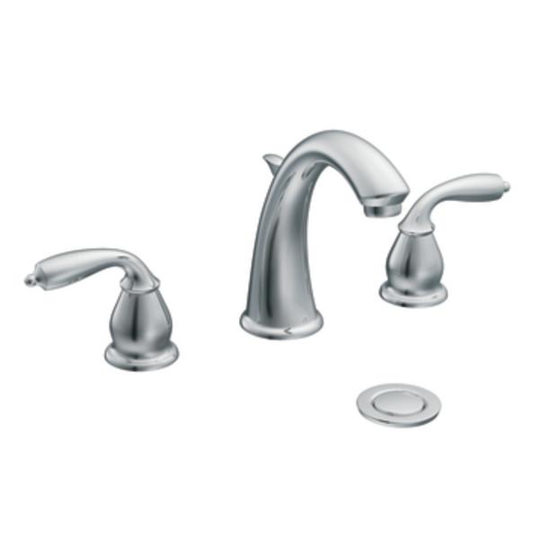 Moen Ca84294 Bayhill Two Handle Low Arc Lavatory Centerset Faucet Chrome