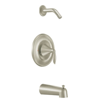 Moen T2133NHBN Eva Posi-Temp(R) Single Handle Tub/Shower Trim - Brushed Nickel
