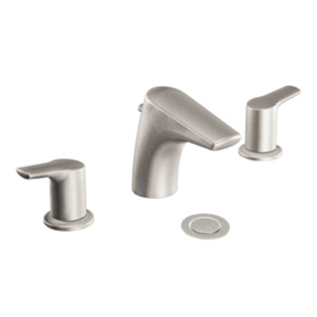 Moen T6820BN Method Two-Handle Widespread Lavatory Faucet Trim - Brushed Nickel