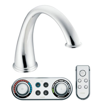Moen T9211 Kingsley High Arc Roman Tub Faucet Trim With ioDIGITAL(TM) Technology - Chrome