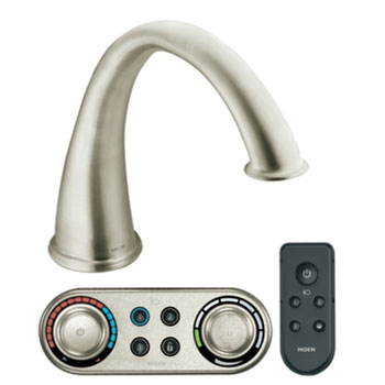 Moen T9211BN Kingsley High Arc Roman Tub Faucet Trim With ioDIGITAL(TM) Technology - Brushed Nickel