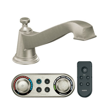 Moen T9221BN Rothbury Roman Tub Faucet Trim with ioDIGITAL(TM) Technology - Brushed Nickel