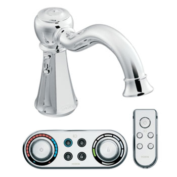 Moen T9321 Vestige High Arc Roman Tub Faucet Trim with ioDIGITAL(TM) Technology - Chrome