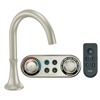 Moen T9621BN Icon Roman Tub Faucet Trim with ioDIGITAL(TM) Technology - Brushed Nickel