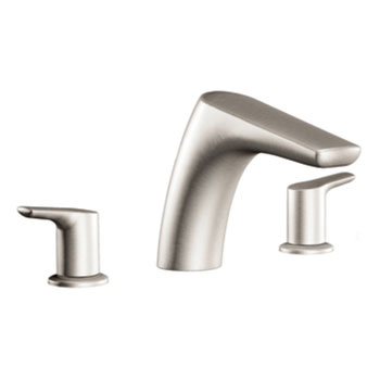 Moen T986BN Method Two-Handle Roman Tub Faucet Trim - Brushed Nickel