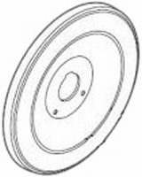 Moen 16098 Escutcheon Plate for Cheatau Tub/Shower - Polished Brass