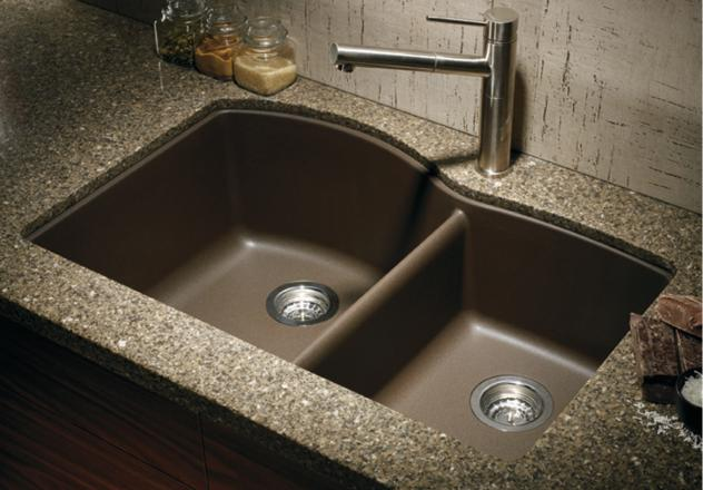 Blanco-440177-Diamond-1-3-4-Bowl-Silgranit-II-Undermount-Kitchen-Sink---Cafe-Brown