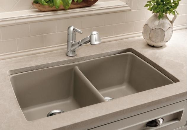 Blanco-441286-Diamond-Equal-Double-Bowl-Silgranit-II-Undermount-Kitchen-Sink---Truffle