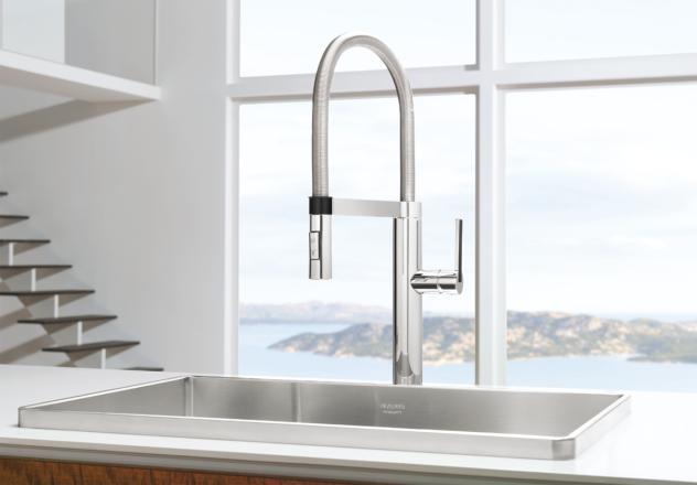 Blanco 441407 1 8 Gpm Culina Semi Pro Faucet Satin