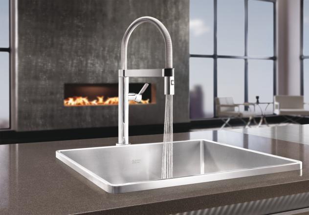 Blanco 441622 Culina Mini Pull Down Faucet Chrome Faucetdepot Com
