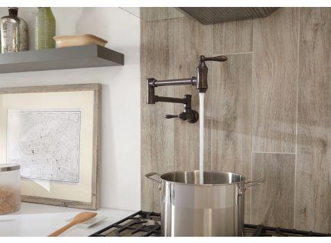 Delta 1177lf Rb Traditional Wall Mount Pot Filler Faucet
