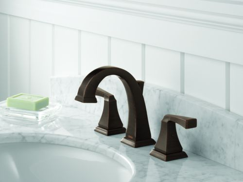 Delta 3551LF-RB Dryden Two Handle Widespread Bathroom Faucet ...