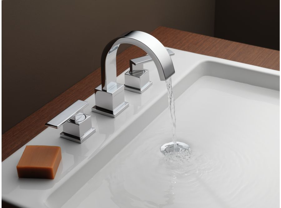 Delta 3553lf Vero Two Handle Widespread Lavatory Faucet