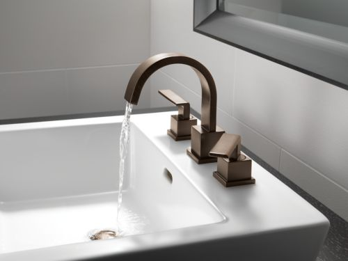 Delta 3553lf Rb Vero Two Handle Widespread Lavatory Faucet