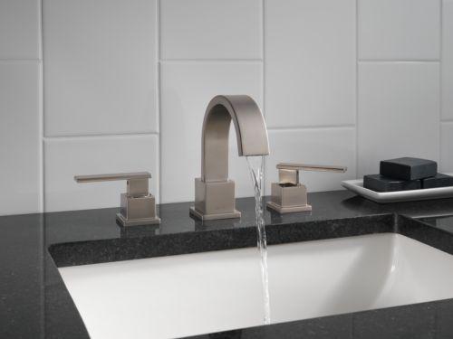 lavatory faucet brilliance stainless delta 3553lfss vero