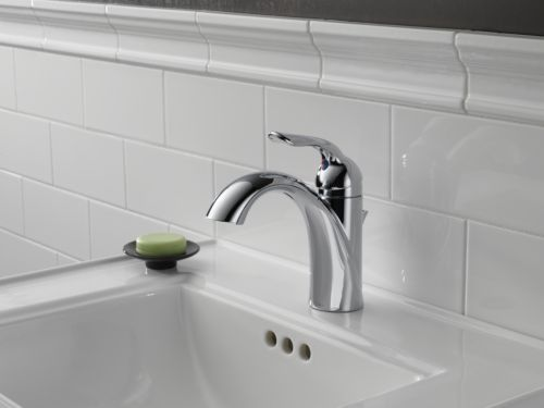 Delta Faucet 3538 Mpu Dst Lahara Polished Chrome Two: Delta 538-MPU-DST Lahara Single Handle Centerset Lavatory