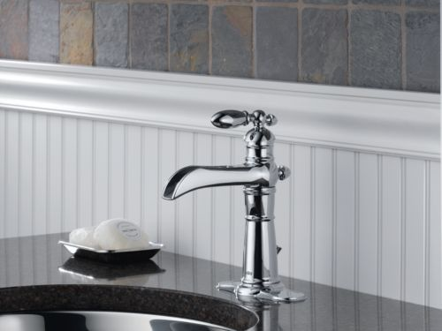 Signature Hardware Victorian Widespread Bathroom Faucet: Delta 554LF Victorian Single Handle/Hole Lavatory Faucet