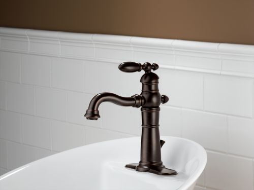 Delta 555lf Rb Victorian Single Handle Hole Lavatory Faucet Venetian Bronze