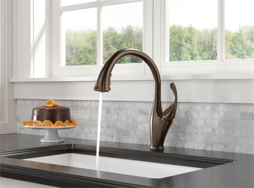 Delta 9192T-RB-DST Addison Single Handle Pull-Down Kitchen Faucet ...