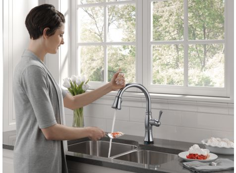 Delta 9197T-AR-DST Cassidy Single Handle Pull Down Kitchen