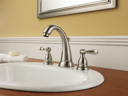 New 8 Roman Widespread Lavatory Bathroom Sink Faucet Oil: Delta B3596LF-SS Foundations Windemere Two Handle