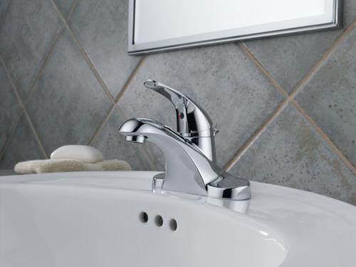 Delta Porter 4 In Centerset 2 Handle Bathroom Faucet With: Delta B510LF Foundations Single Handle Centerset Lavatory