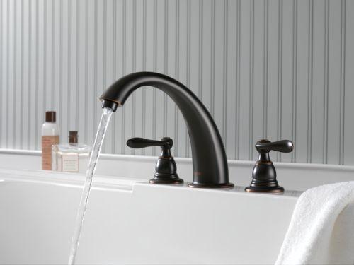 Shop Classic High Spout Oil Rubbed Bronze Bathroom Faucet: Delta BT2796-OB Foundations Windemere Roman Tub Faucet