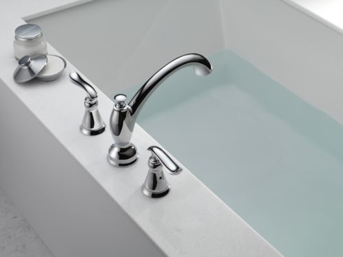 Delta T2794 Linden Two Handle Roman Tub Trim Chrome
