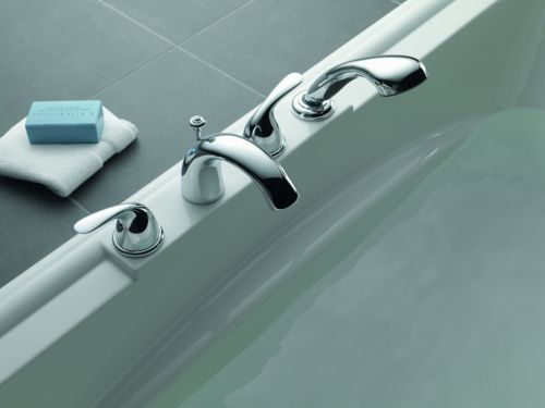 Delta T4705 Classic Two Handle Roman Tub With Hand Shower